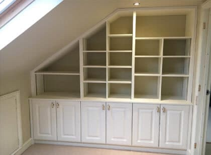 Norwich bespoke wooden fitted shelves