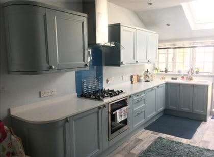 Norwich wooden shaker kitchen units and fitting